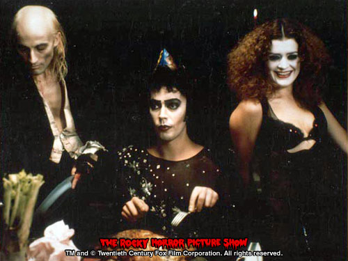 RHPS Photo: Richard O'Brien, Tim Curry and Patricia Quinn