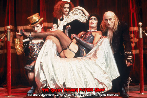 RHPS Photo: Little Nell, Patricia Quinn, Tim Curry and Richard O'Brien