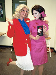 Kimmy as Janet Majors with her mother Mary as Macy Struthers