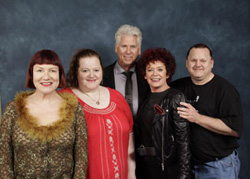Family photo - April 2013 at the Chiller Expo<br/>in New Jersey, with Nell, Barry and Pat